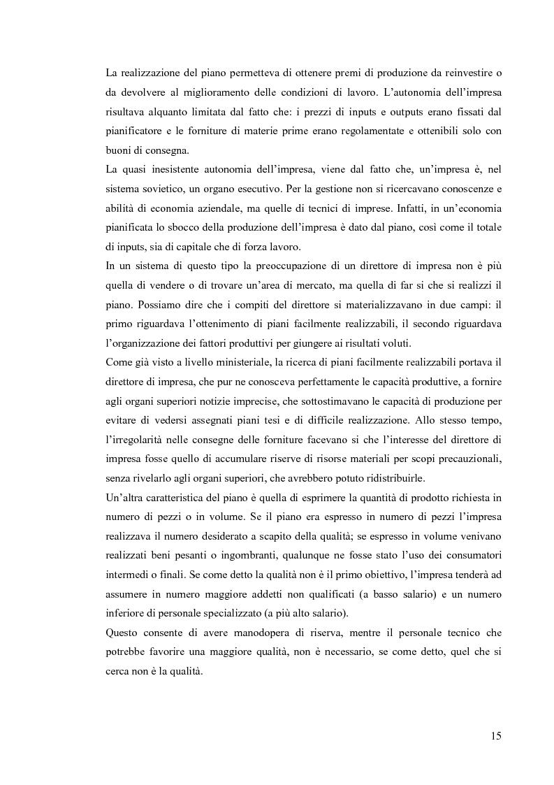Anteprima della tesi: Le economie di transizione nel passaggio da piano a mercato: il caso della Romania, Pagina 11