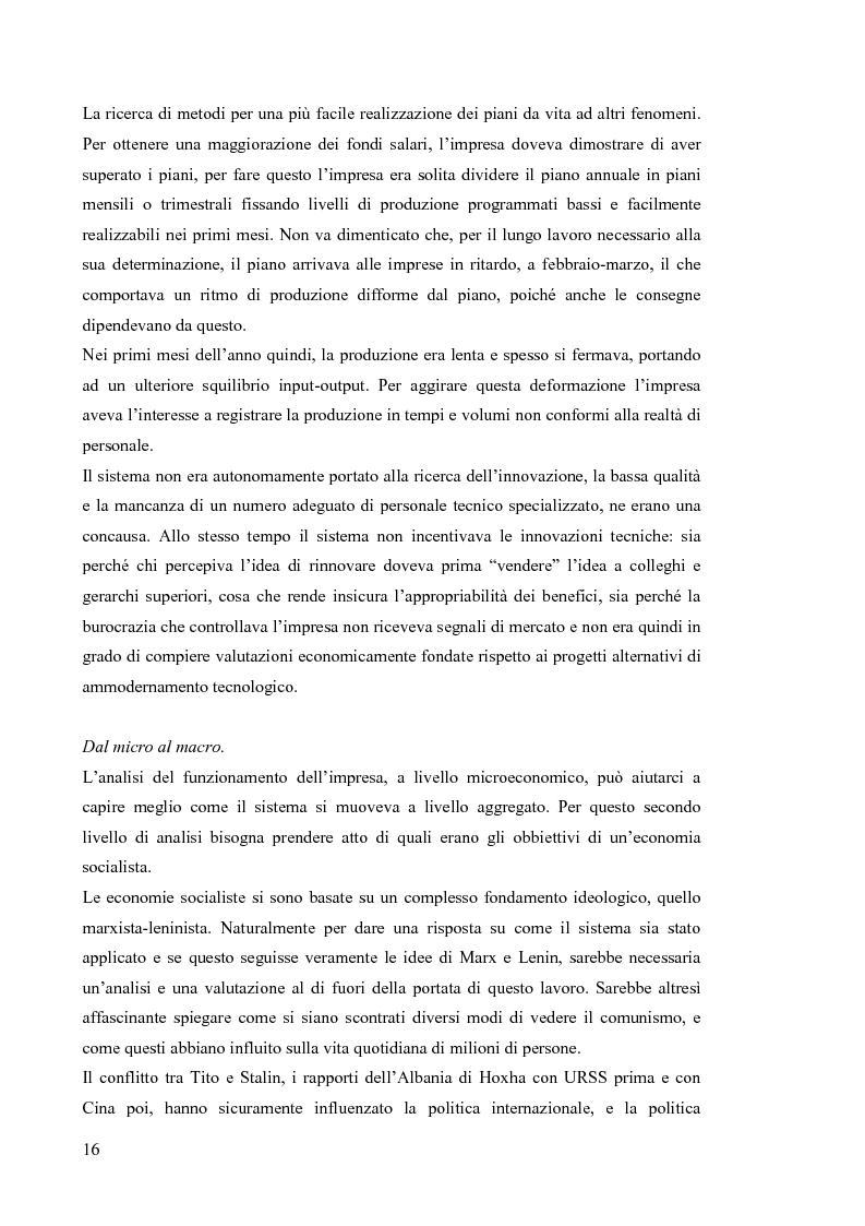 Anteprima della tesi: Le economie di transizione nel passaggio da piano a mercato: il caso della Romania, Pagina 12