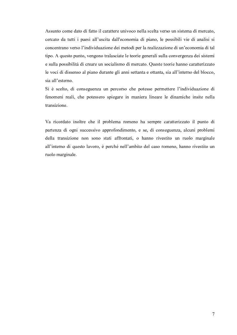 Anteprima della tesi: Le economie di transizione nel passaggio da piano a mercato: il caso della Romania, Pagina 3