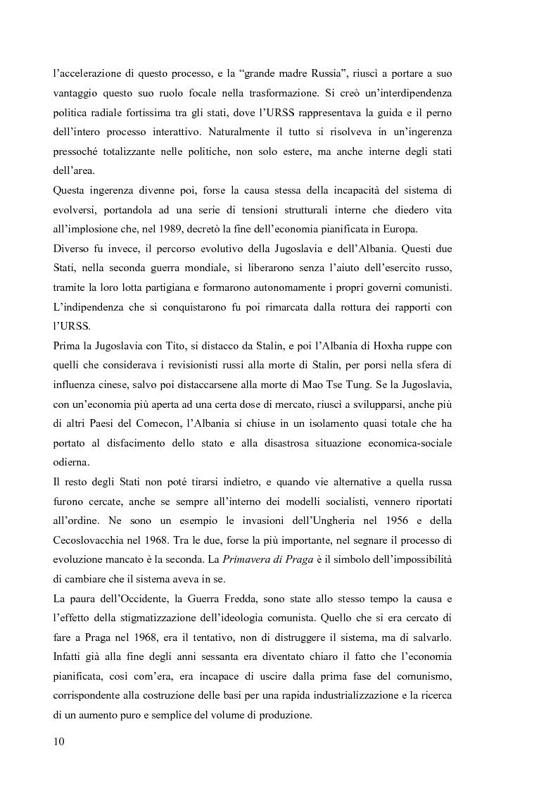 Anteprima della tesi: Le economie di transizione nel passaggio da piano a mercato: il caso della Romania, Pagina 6