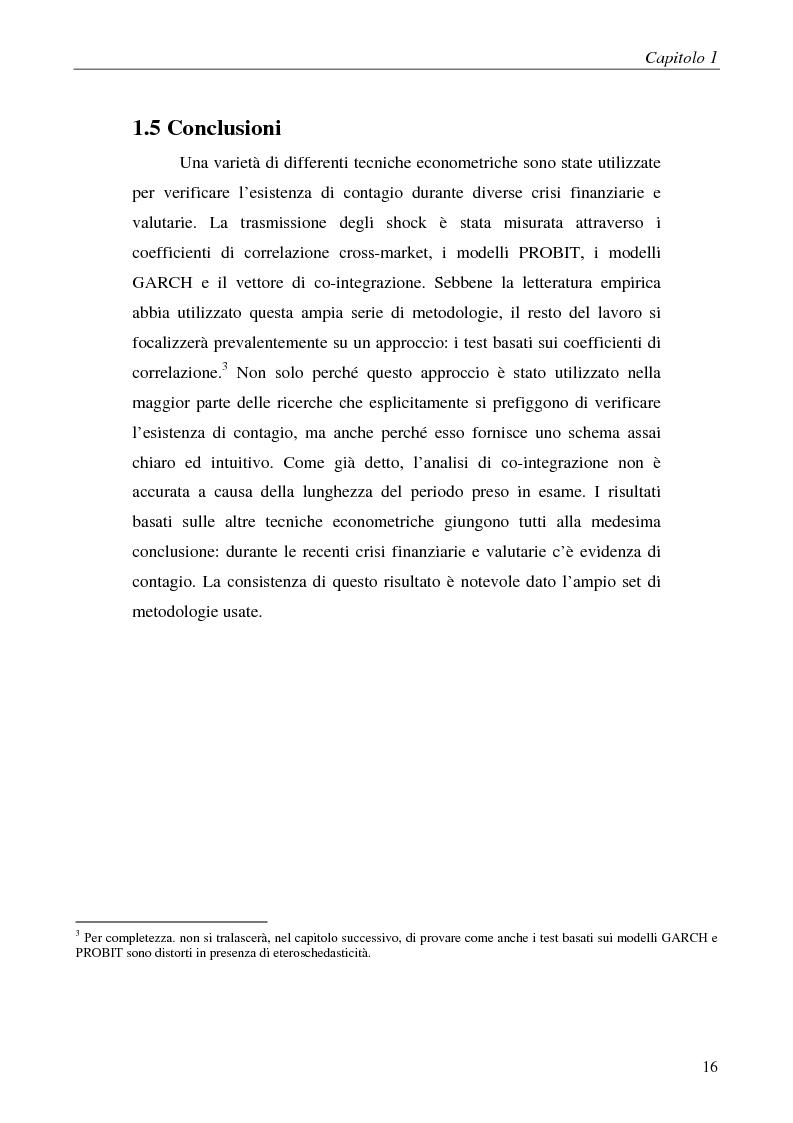 Anteprima della tesi: Contagio e interdipendenza nei mercati finanziari: aspetti metodologici ed evidenza empirica, Pagina 12