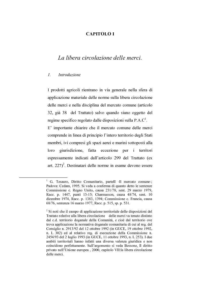 Anteprima della tesi: La regolamentazione del commercio dei prodotti agricoli nella Comunità Europea. Aspetti particolari in tema di carne bovina, Pagina 1