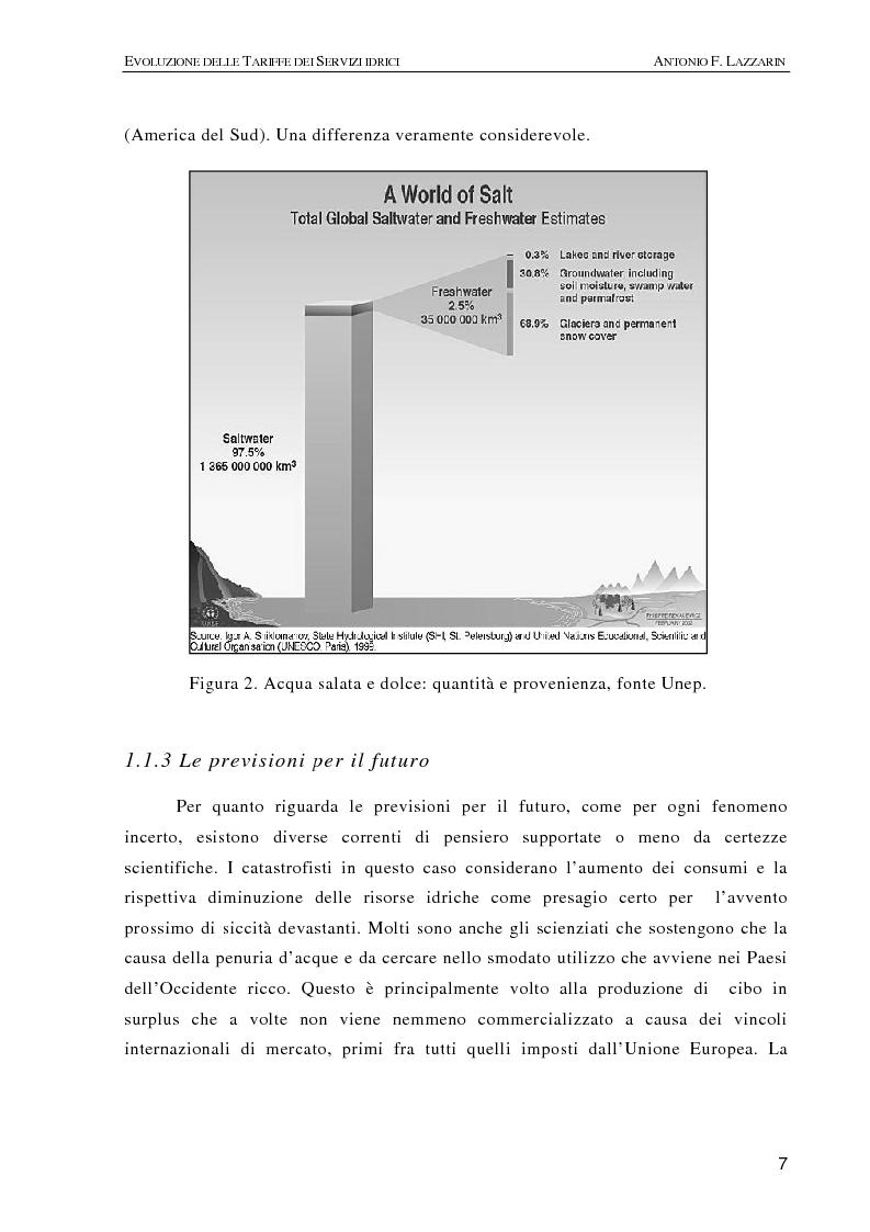 Anteprima della tesi: L'evoluzione delle tariffe dei servizi idrici nell'ambito della riforma del settore (legge n. 36/94), Pagina 4