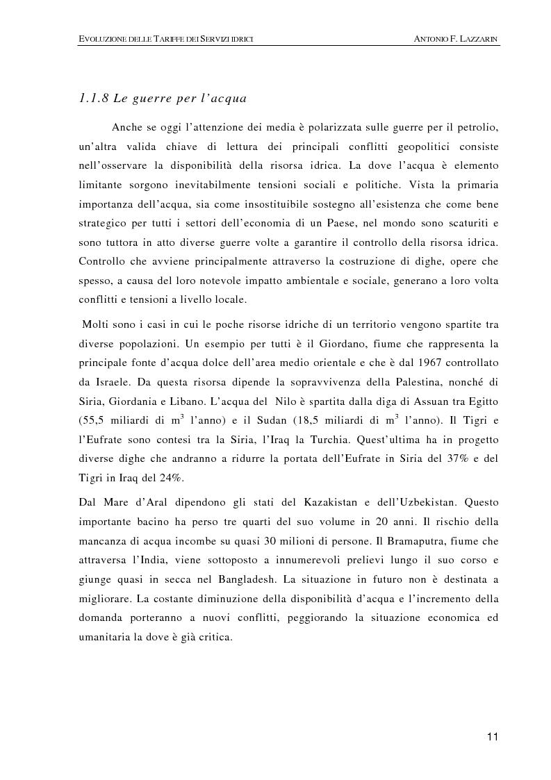 Anteprima della tesi: L'evoluzione delle tariffe dei servizi idrici nell'ambito della riforma del settore (legge n. 36/94), Pagina 8