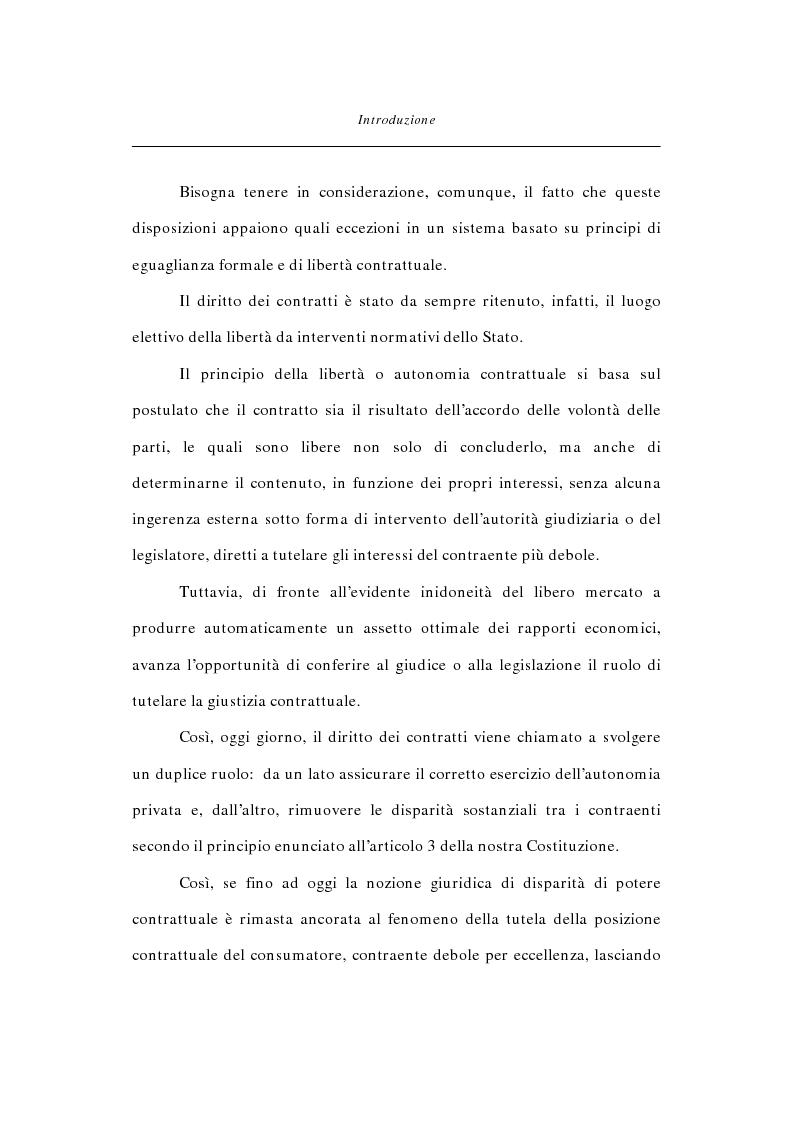 Anteprima della tesi: Abuso di dipendenza economica nella disciplina del contratto, Pagina 2