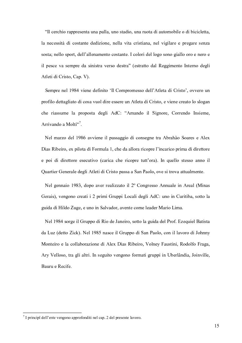 Anteprima della tesi: Atleti di Cristo. Tra sacro e profano, un movimento salvifico espresso dalla religiosità brasiliana, Pagina 12