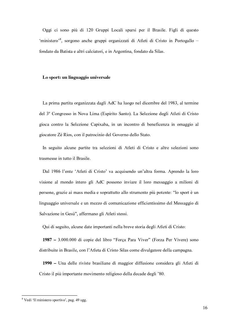 Anteprima della tesi: Atleti di Cristo. Tra sacro e profano, un movimento salvifico espresso dalla religiosità brasiliana, Pagina 13