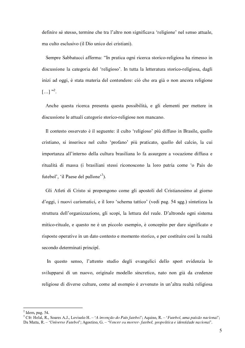 Anteprima della tesi: Atleti di Cristo. Tra sacro e profano, un movimento salvifico espresso dalla religiosità brasiliana, Pagina 2