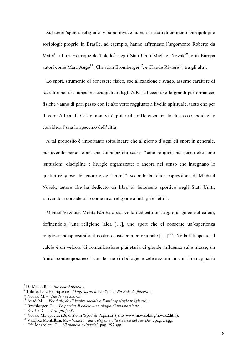 Anteprima della tesi: Atleti di Cristo. Tra sacro e profano, un movimento salvifico espresso dalla religiosità brasiliana, Pagina 5