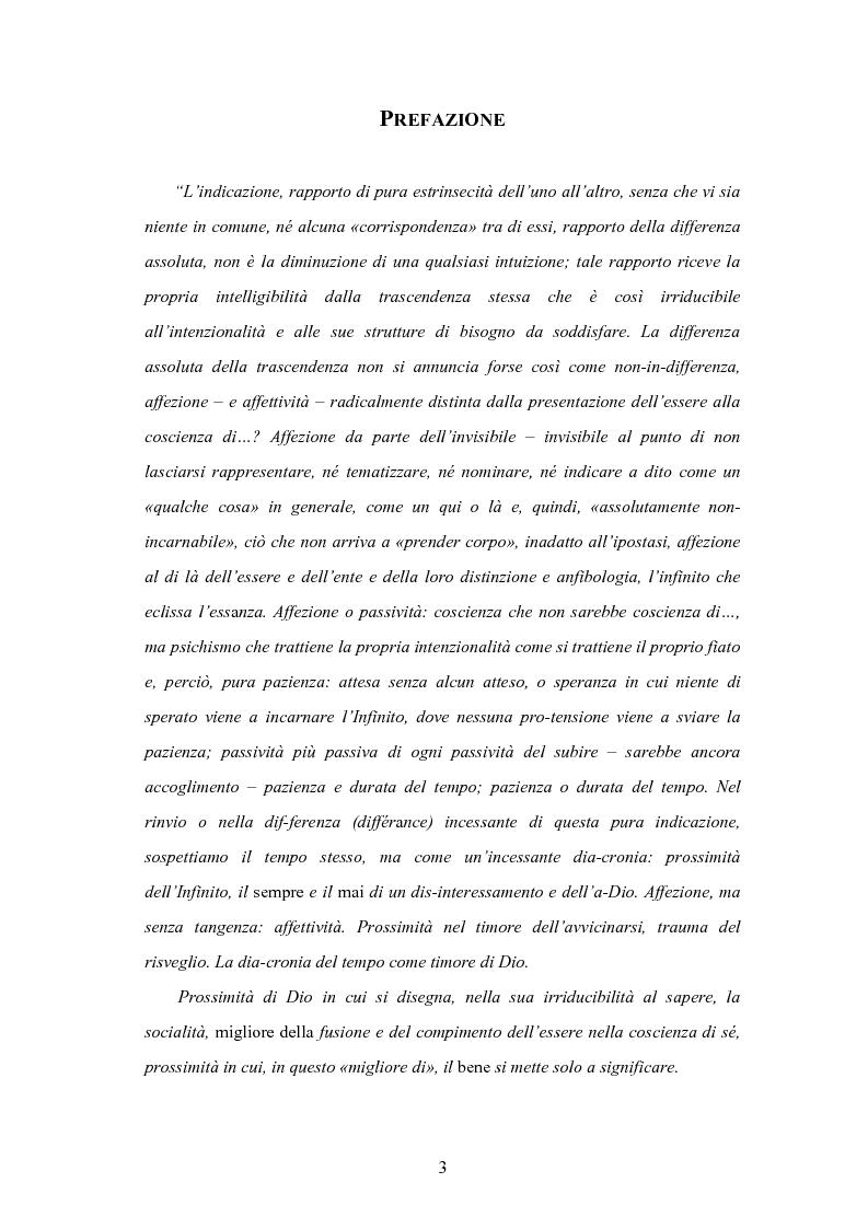 Anteprima della tesi: Levinas e la scuola fenomenologica, Pagina 1