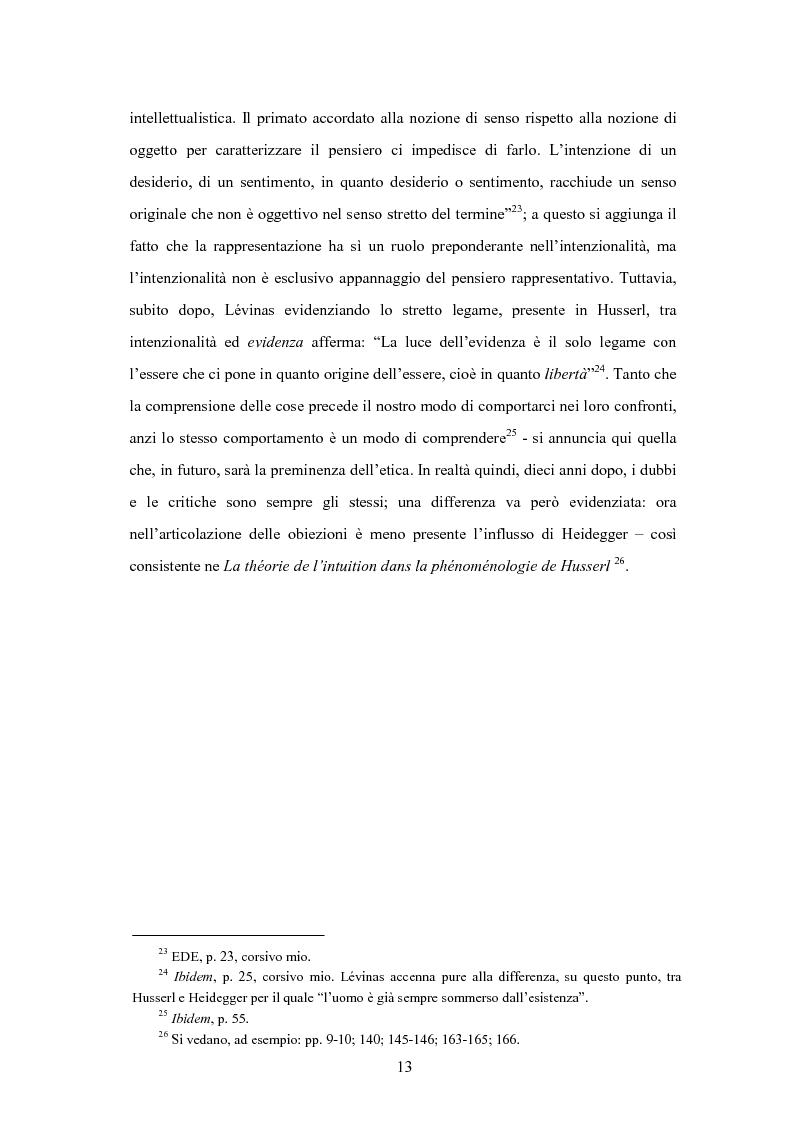 Anteprima della tesi: Levinas e la scuola fenomenologica, Pagina 11