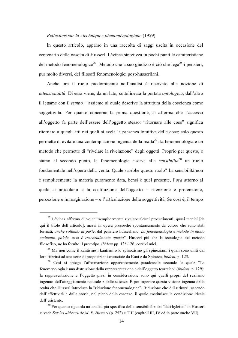 Anteprima della tesi: Levinas e la scuola fenomenologica, Pagina 12