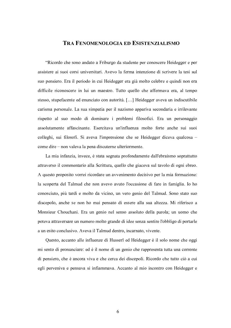 Anteprima della tesi: Levinas e la scuola fenomenologica, Pagina 4