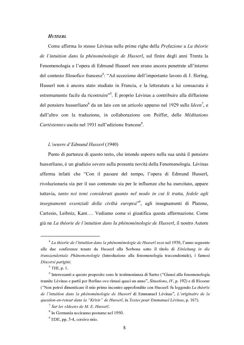 Anteprima della tesi: Levinas e la scuola fenomenologica, Pagina 6