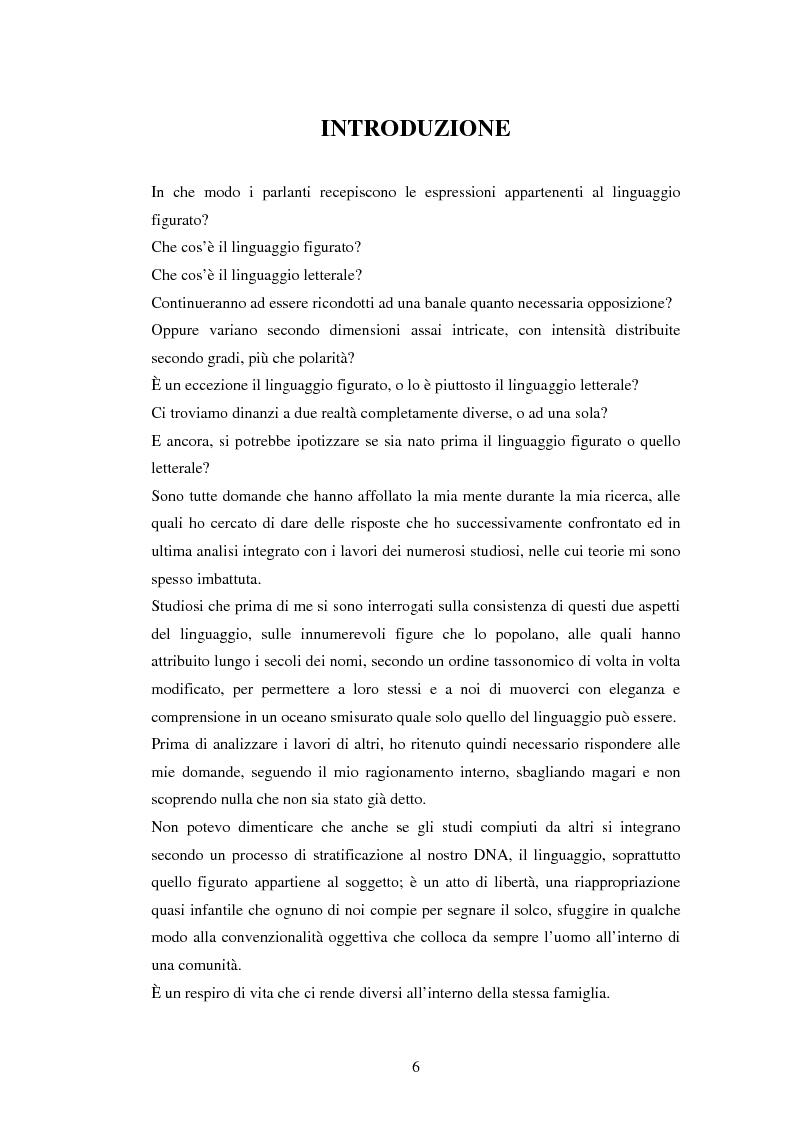 Anteprima della tesi: Il linguaggio figurato e la comprensione delle espressioni idiomatiche, Pagina 1