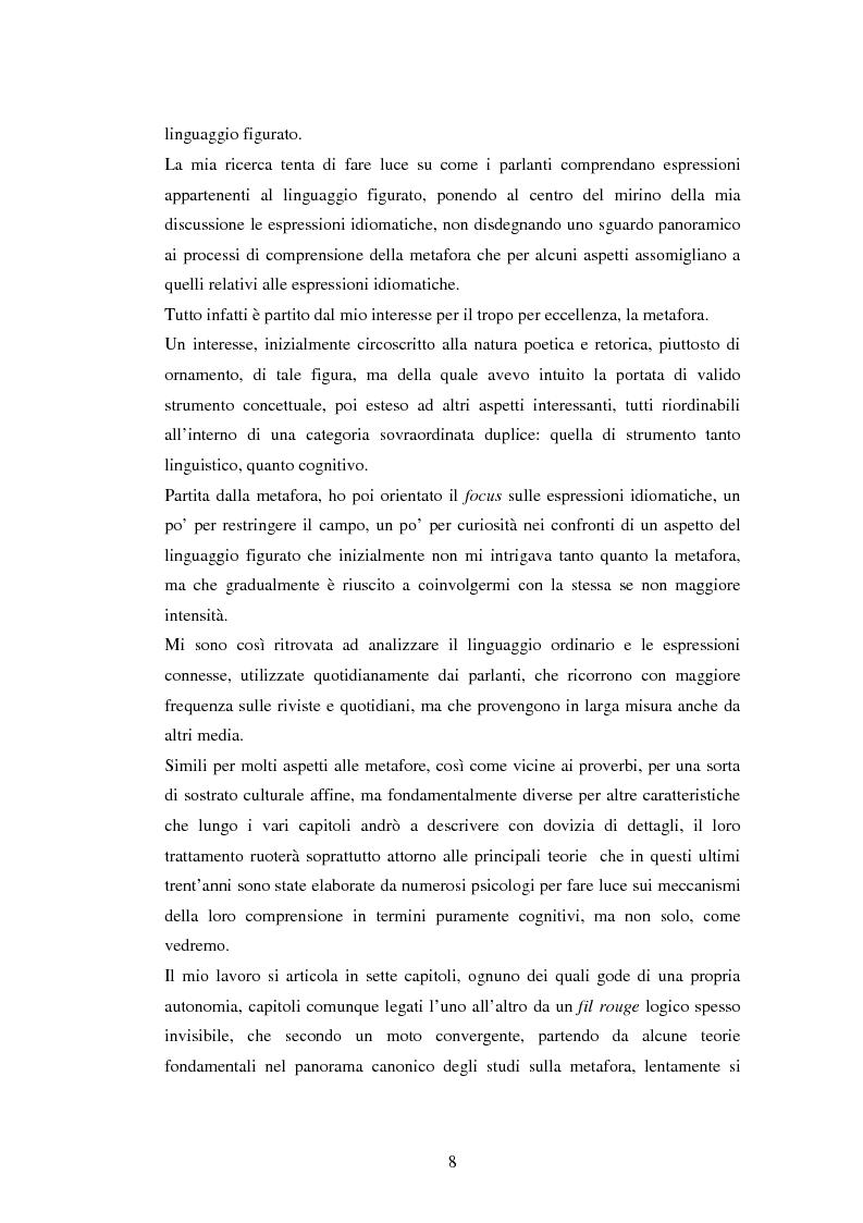 Anteprima della tesi: Il linguaggio figurato e la comprensione delle espressioni idiomatiche, Pagina 3