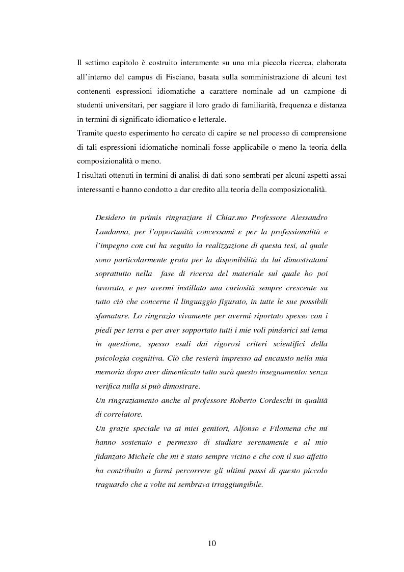 Anteprima della tesi: Il linguaggio figurato e la comprensione delle espressioni idiomatiche, Pagina 5