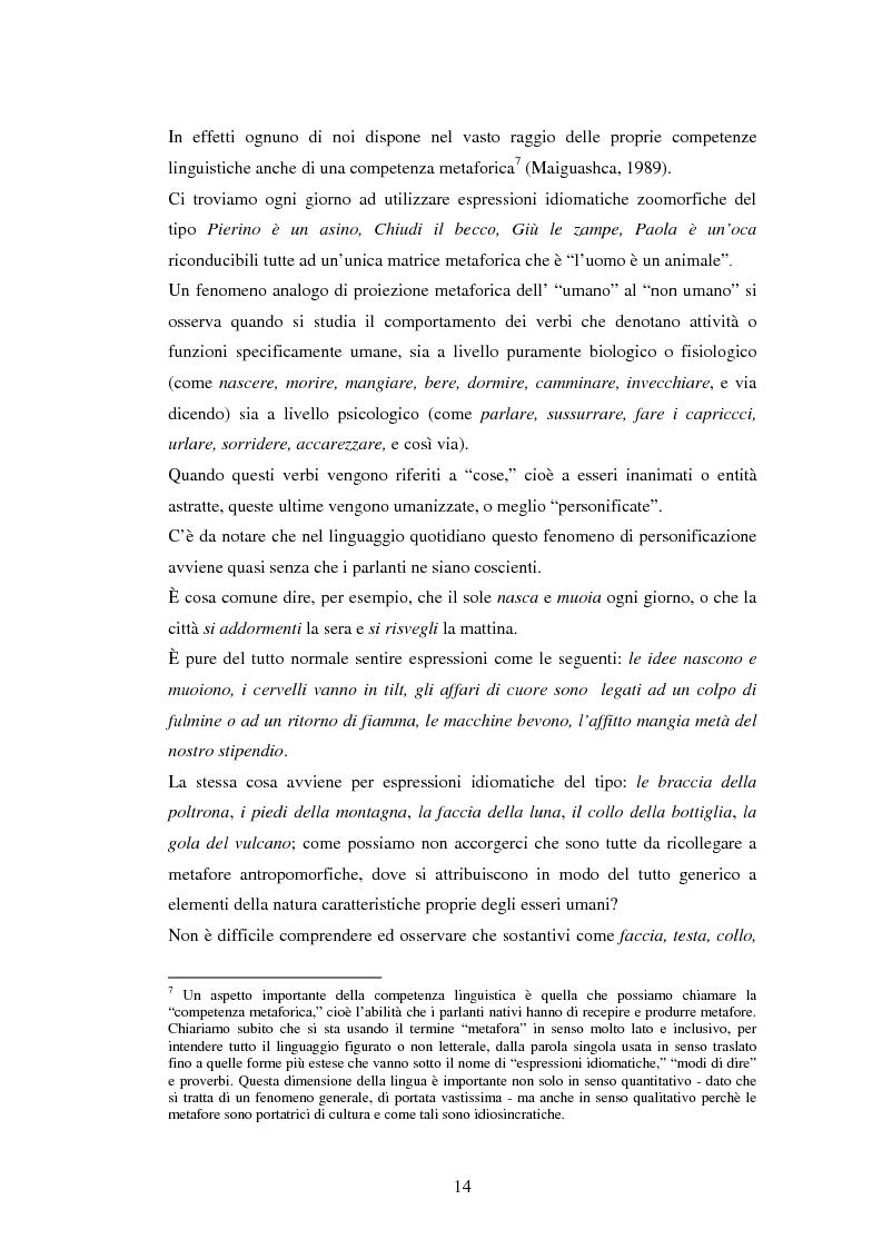 Anteprima della tesi: Il linguaggio figurato e la comprensione delle espressioni idiomatiche, Pagina 9
