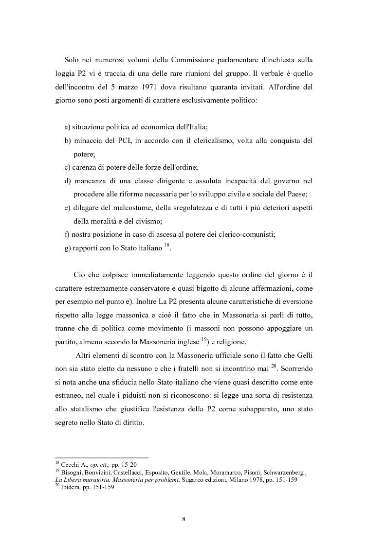 Anteprima della tesi: ''Il Potere è nei media''. La P2 e l'editoria nella stampa italiana e inglese, Pagina 11
