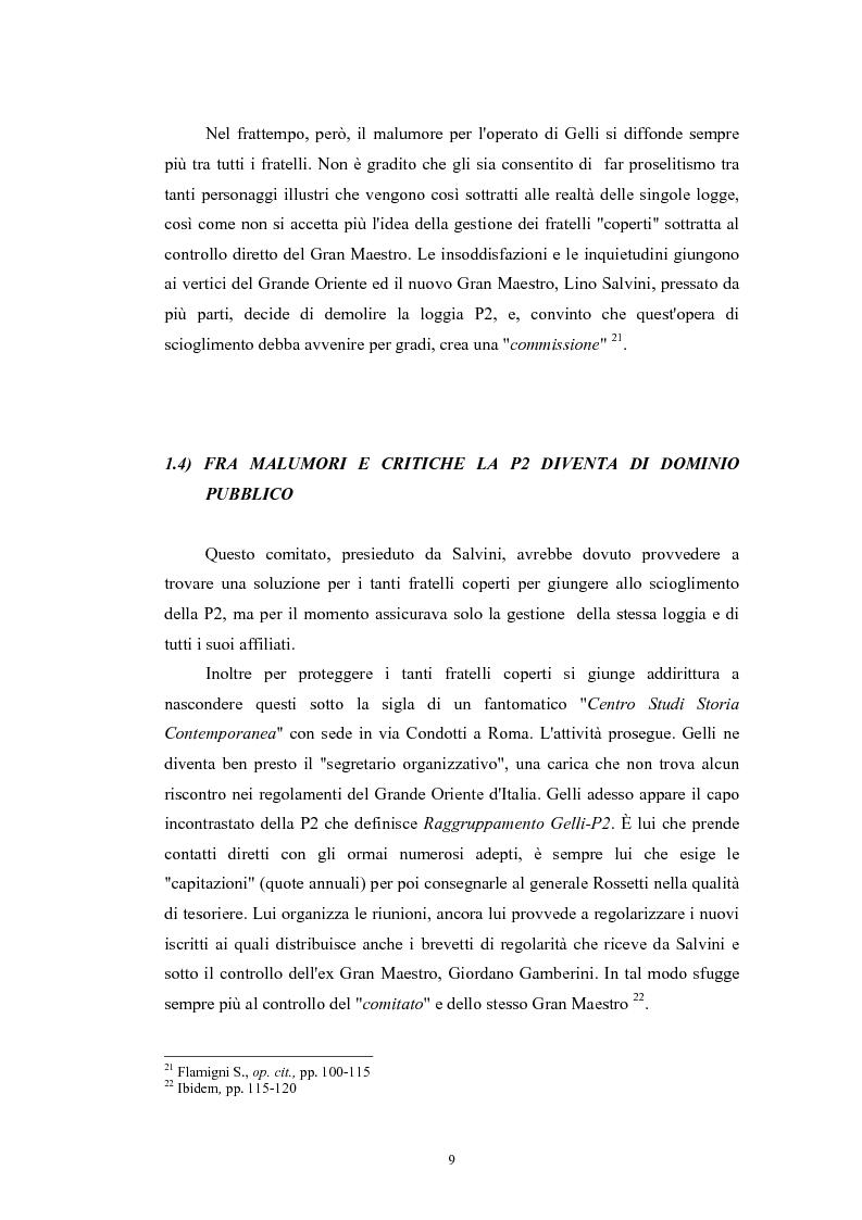 Anteprima della tesi: ''Il Potere è nei media''. La P2 e l'editoria nella stampa italiana e inglese, Pagina 12