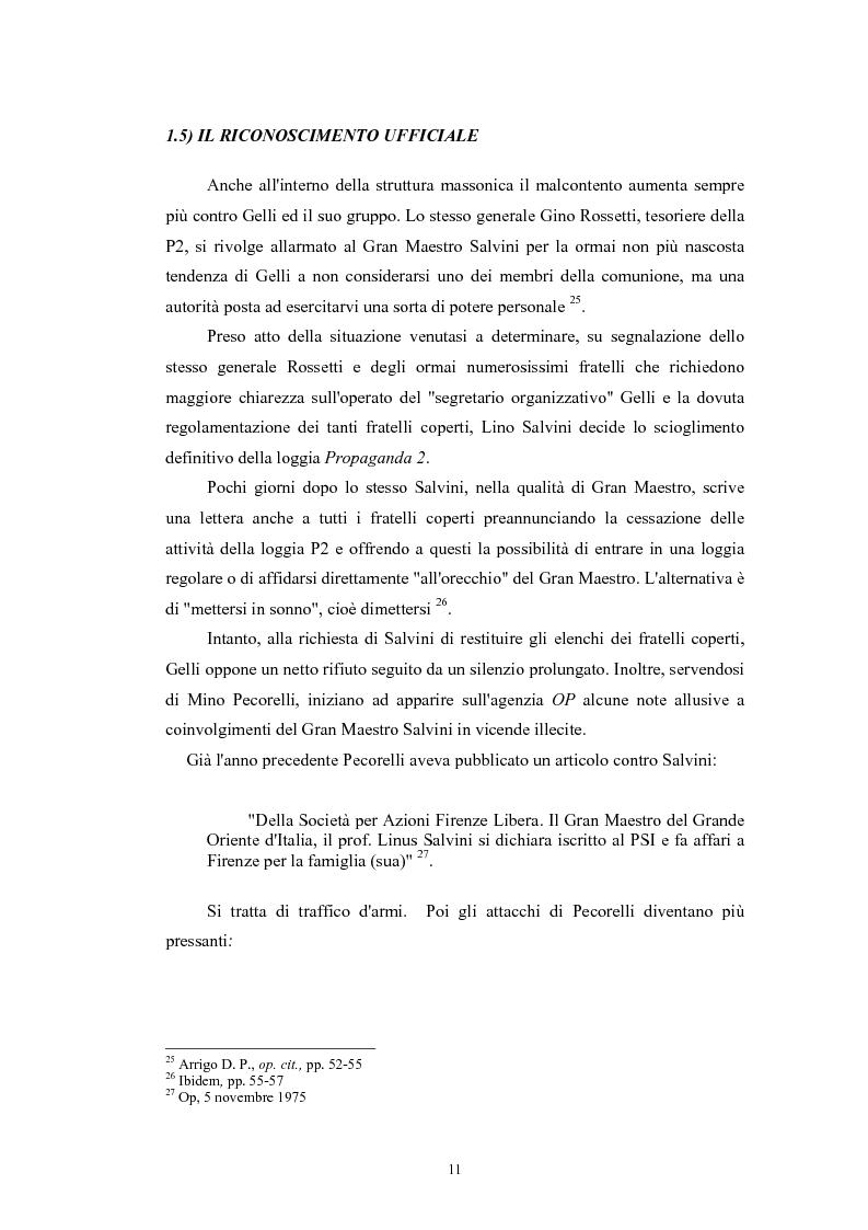 Anteprima della tesi: ''Il Potere è nei media''. La P2 e l'editoria nella stampa italiana e inglese, Pagina 14