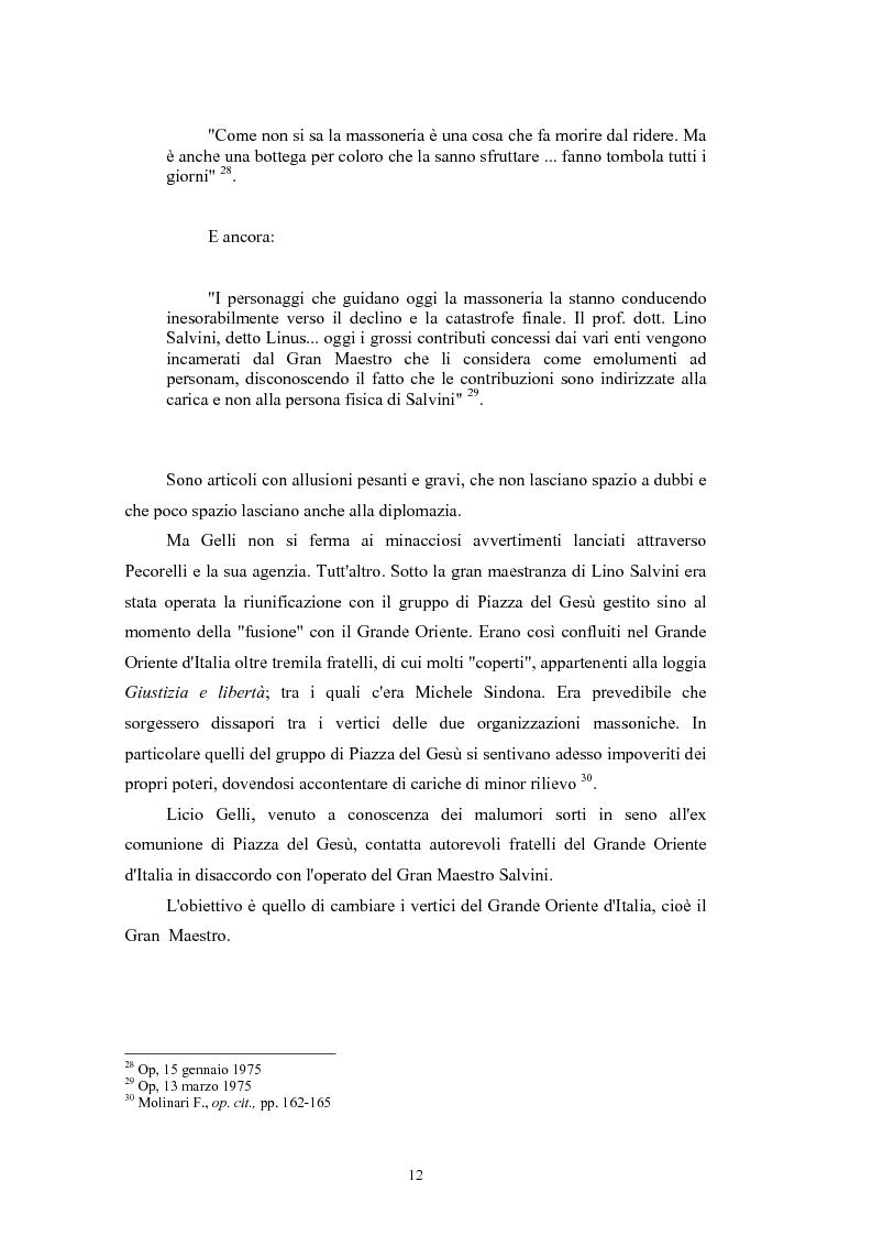 Anteprima della tesi: ''Il Potere è nei media''. La P2 e l'editoria nella stampa italiana e inglese, Pagina 15
