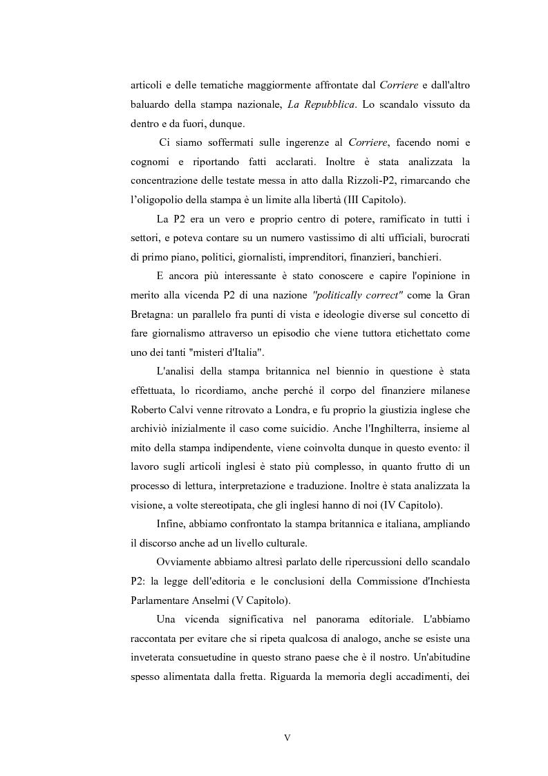 Anteprima della tesi: ''Il Potere è nei media''. La P2 e l'editoria nella stampa italiana e inglese, Pagina 2