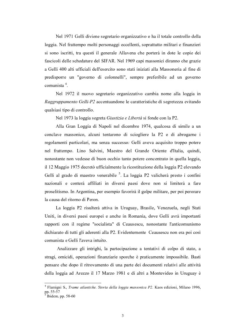 Anteprima della tesi: ''Il Potere è nei media''. La P2 e l'editoria nella stampa italiana e inglese, Pagina 6
