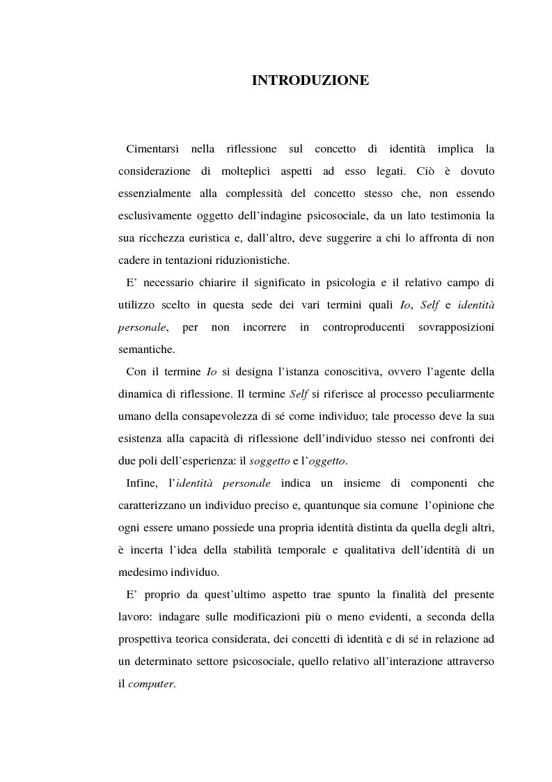 Anteprima della tesi: Identità digitale, Pagina 1