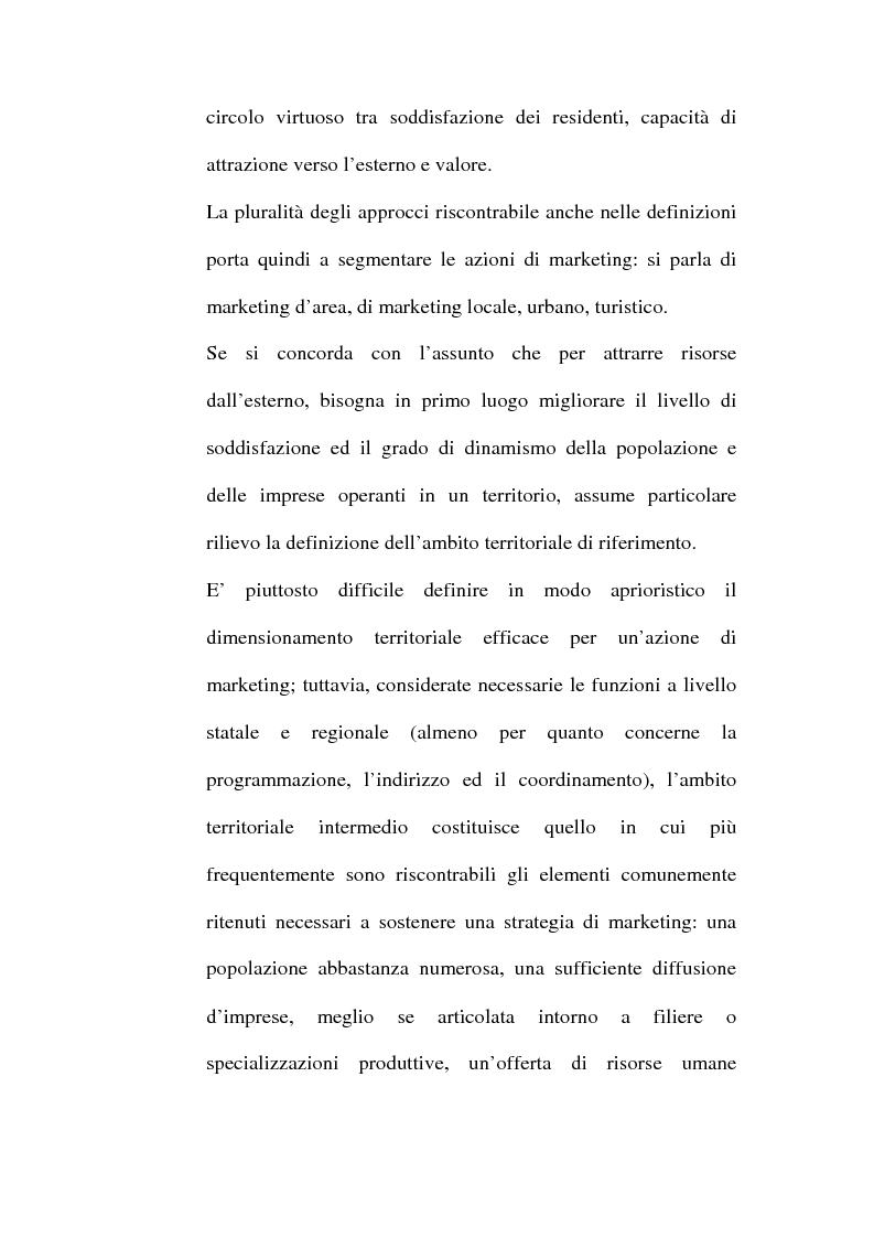 Anteprima della tesi: Lo sviluppo territoriale e l'importanza delle risorse locali: piano di marketing turistico-culturale della città di Benevento, Pagina 13