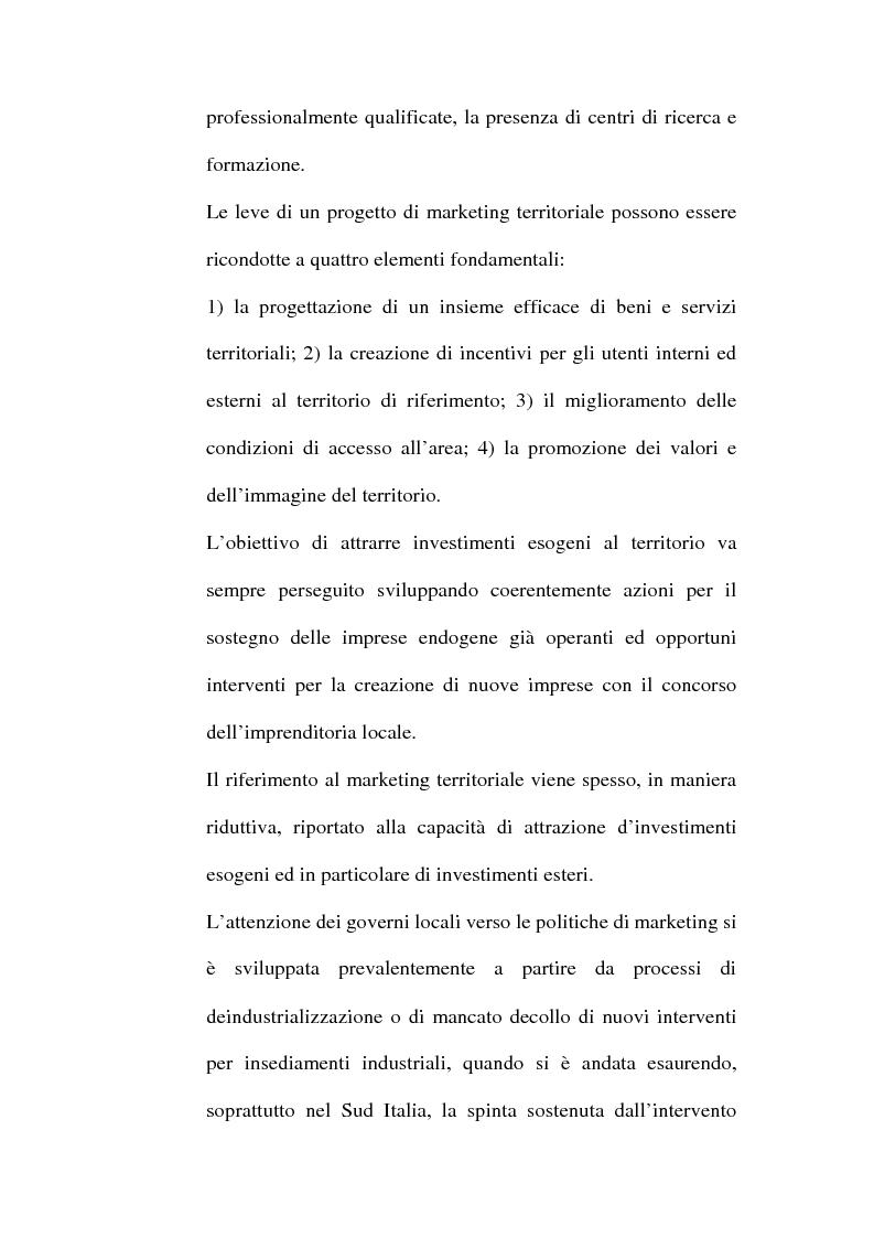Anteprima della tesi: Lo sviluppo territoriale e l'importanza delle risorse locali: piano di marketing turistico-culturale della città di Benevento, Pagina 14