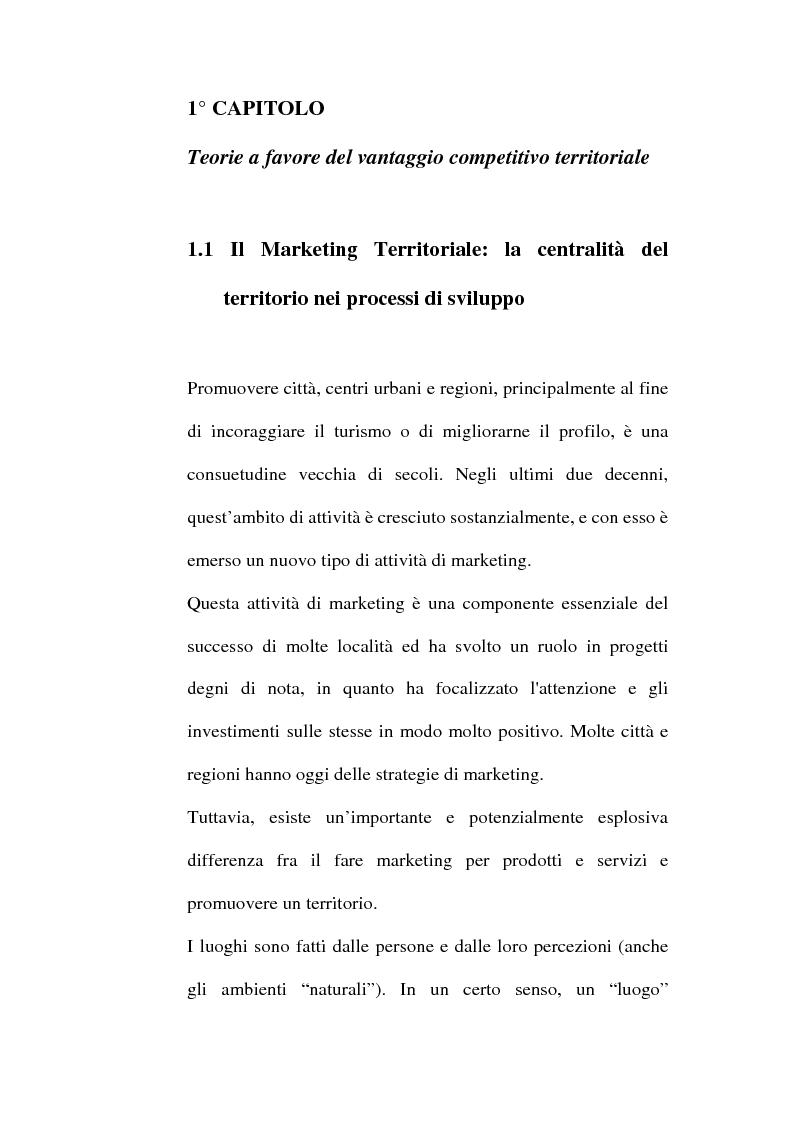 Anteprima della tesi: Lo sviluppo territoriale e l'importanza delle risorse locali: piano di marketing turistico-culturale della città di Benevento, Pagina 5