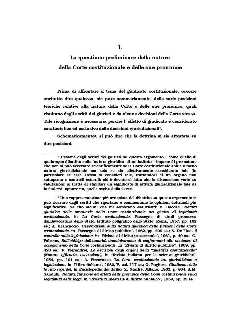 Anteprima della tesi: Il vincolo di giudicato nel controllo di costituzionalità delle leggi, Pagina 4