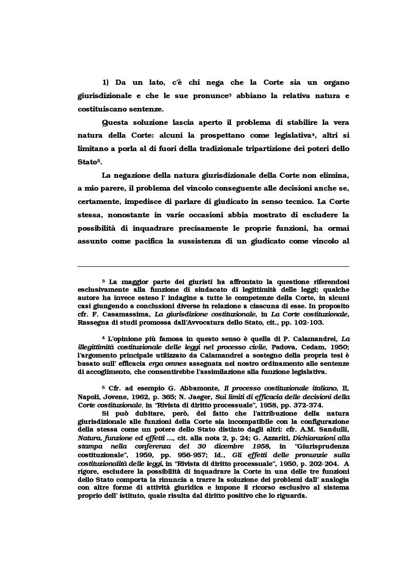 Anteprima della tesi: Il vincolo di giudicato nel controllo di costituzionalità delle leggi, Pagina 5
