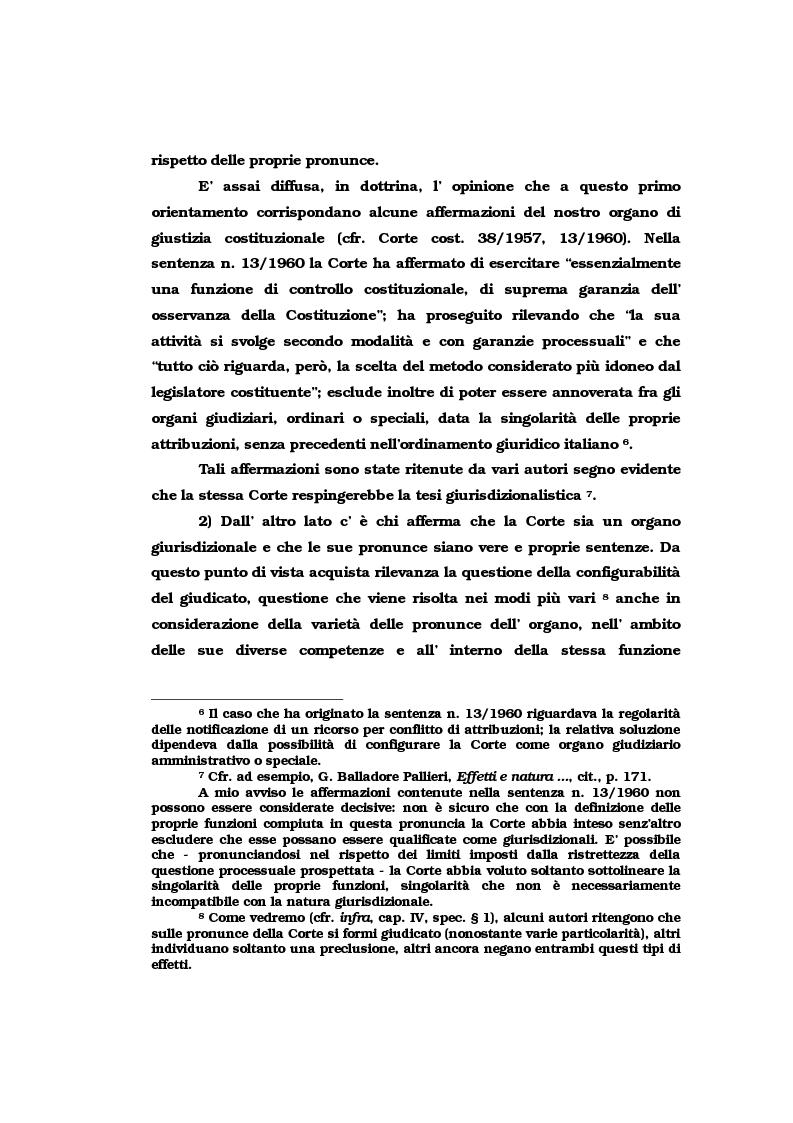 Anteprima della tesi: Il vincolo di giudicato nel controllo di costituzionalità delle leggi, Pagina 6