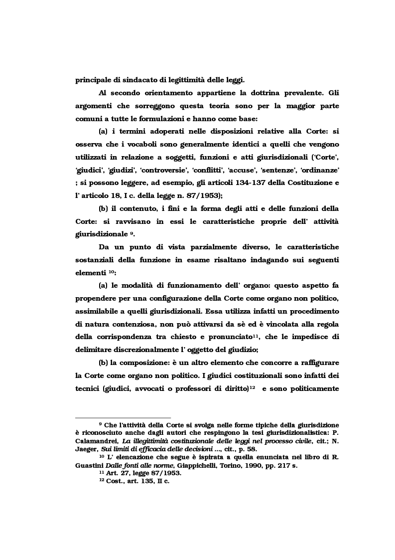 Anteprima della tesi: Il vincolo di giudicato nel controllo di costituzionalità delle leggi, Pagina 7