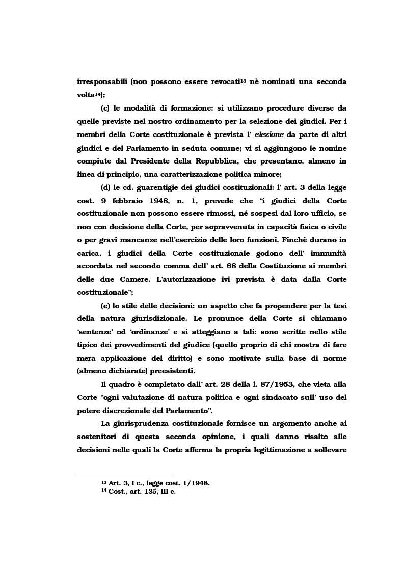 Anteprima della tesi: Il vincolo di giudicato nel controllo di costituzionalità delle leggi, Pagina 8