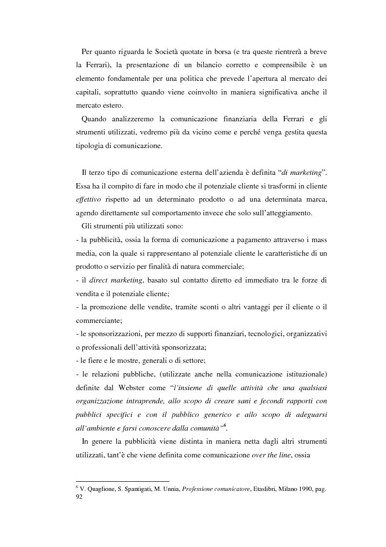 Anteprima della tesi: Comunicare l'immagine di eccellenza - Il caso Ferrari, Pagina 14