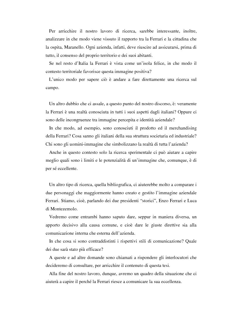 Anteprima della tesi: Comunicare l'immagine di eccellenza - Il caso Ferrari, Pagina 3
