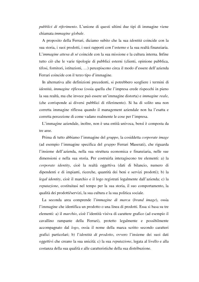Anteprima della tesi: Comunicare l'immagine di eccellenza - Il caso Ferrari, Pagina 6