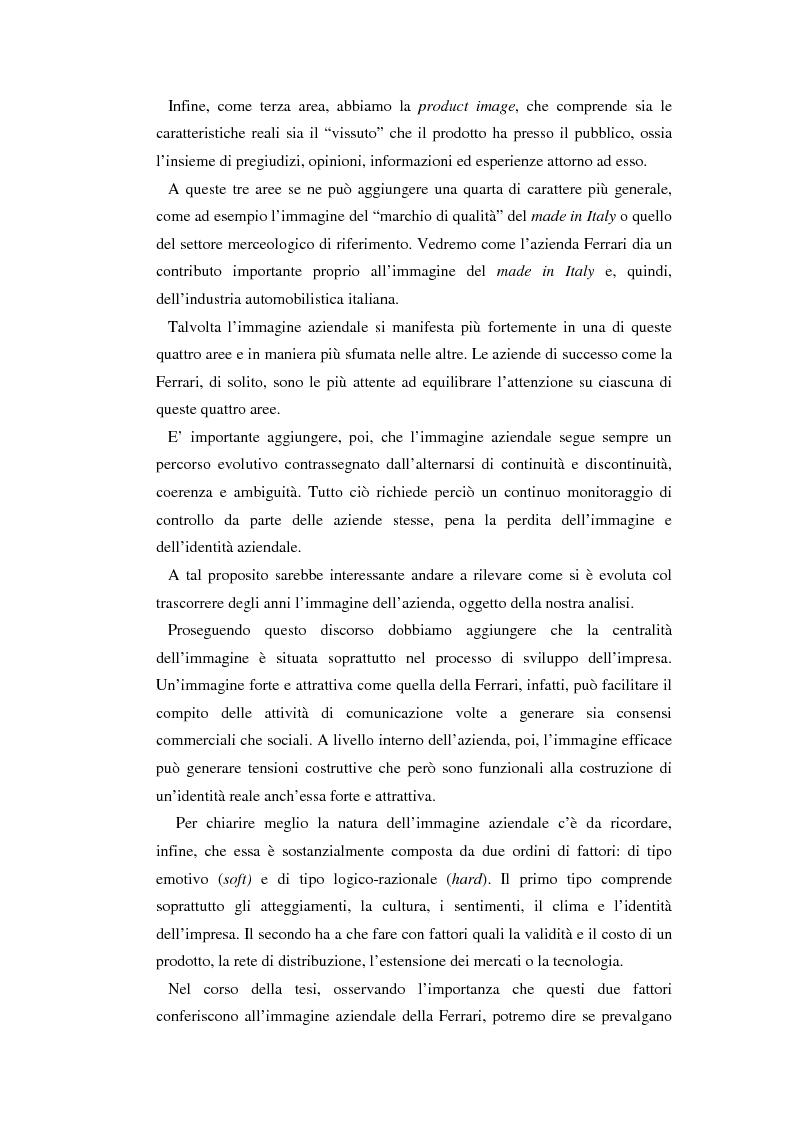 Anteprima della tesi: Comunicare l'immagine di eccellenza - Il caso Ferrari, Pagina 7