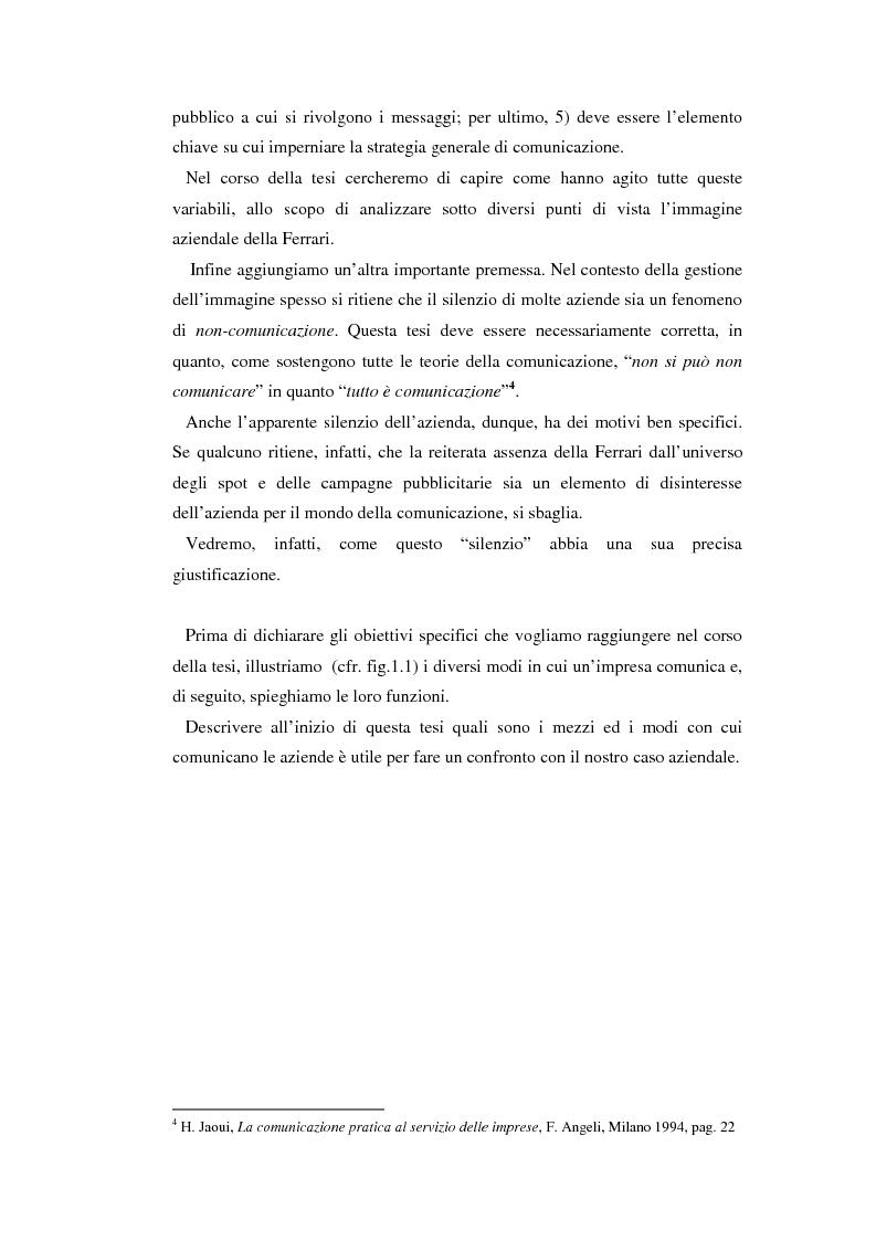 Anteprima della tesi: Comunicare l'immagine di eccellenza - Il caso Ferrari, Pagina 9