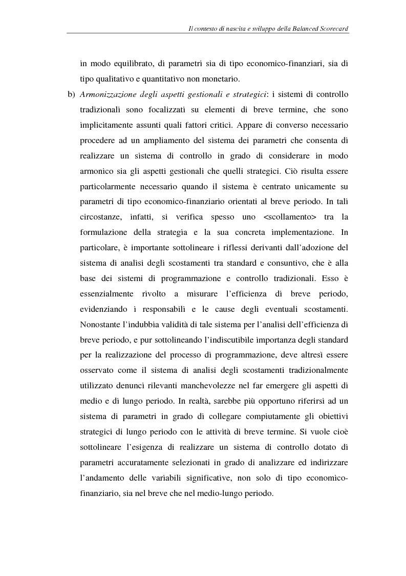 Anteprima della tesi: La balanced scorecard come supporto alla pianificazione interattiva, Pagina 15