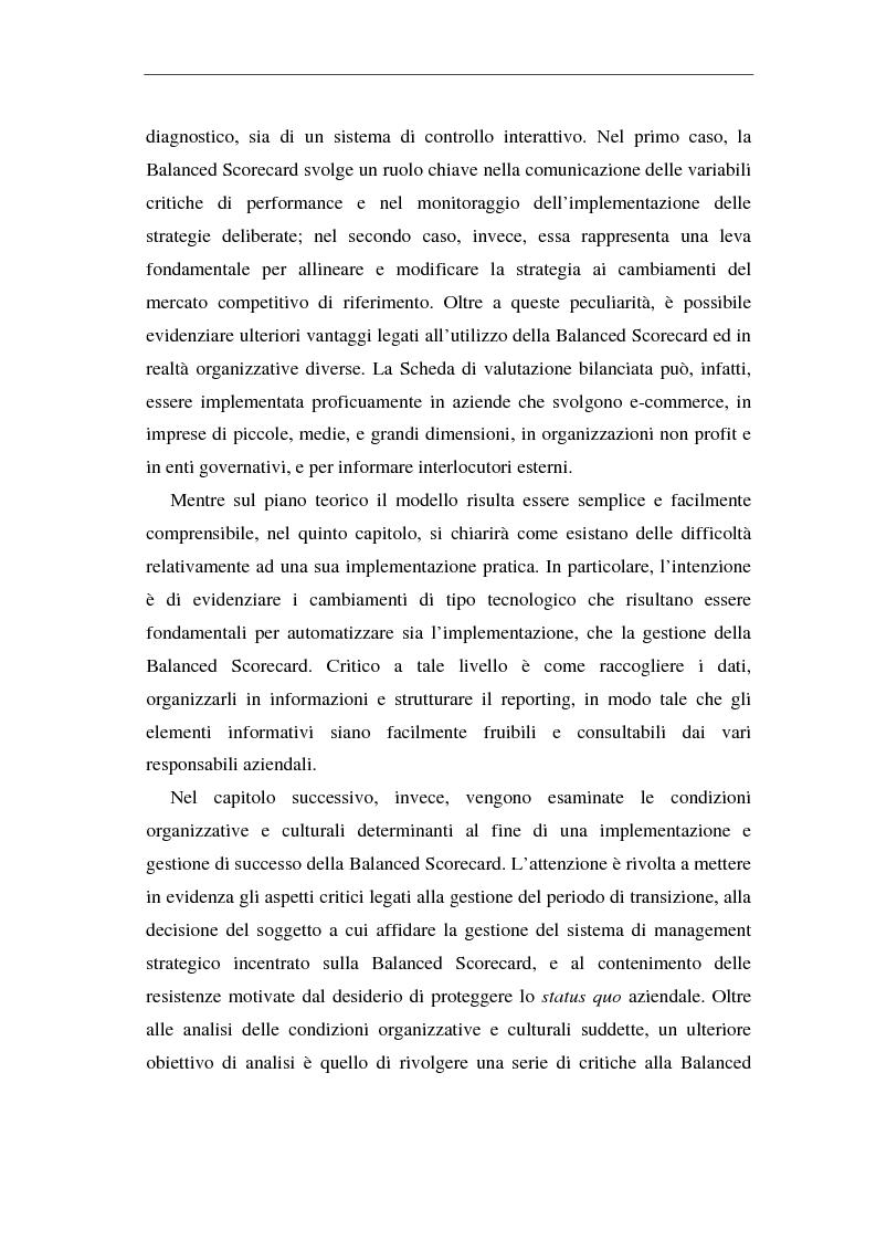 Anteprima della tesi: La balanced scorecard come supporto alla pianificazione interattiva, Pagina 3