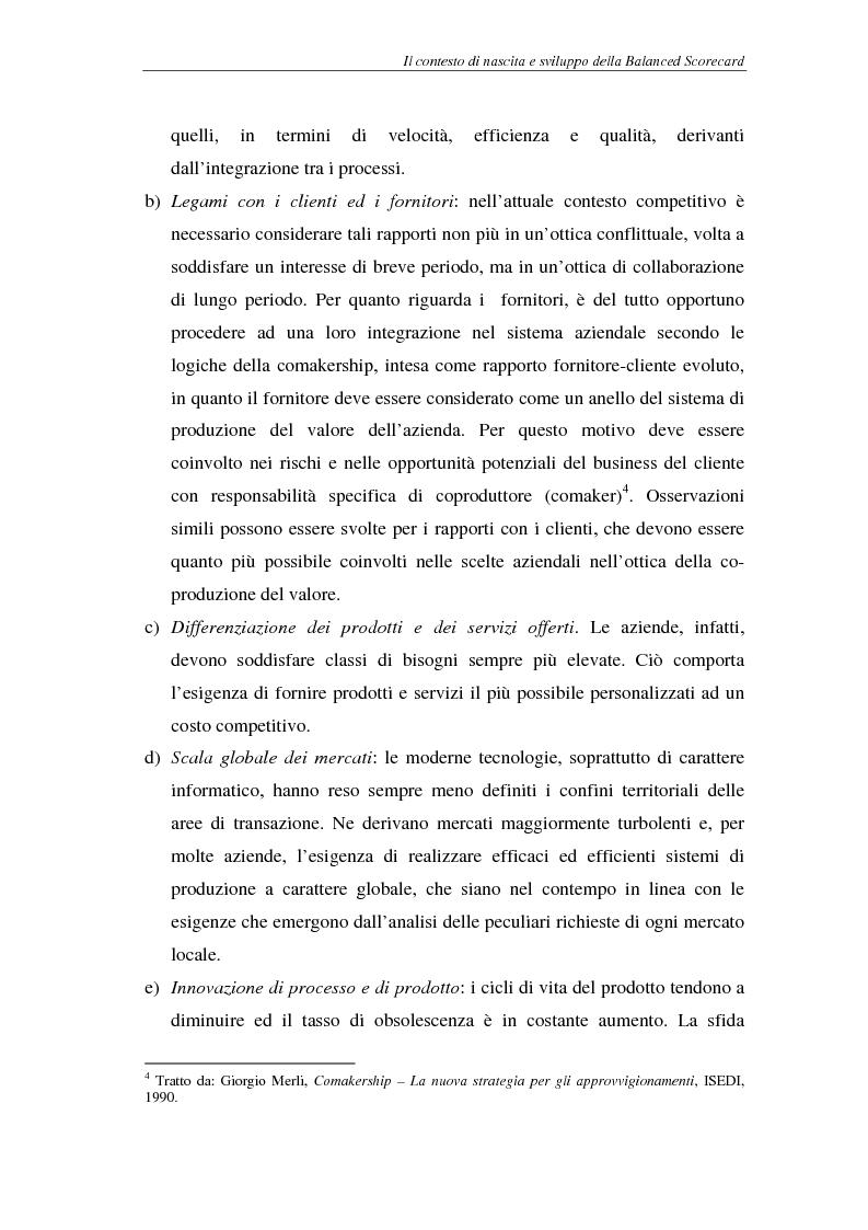 Anteprima della tesi: La balanced scorecard come supporto alla pianificazione interattiva, Pagina 9