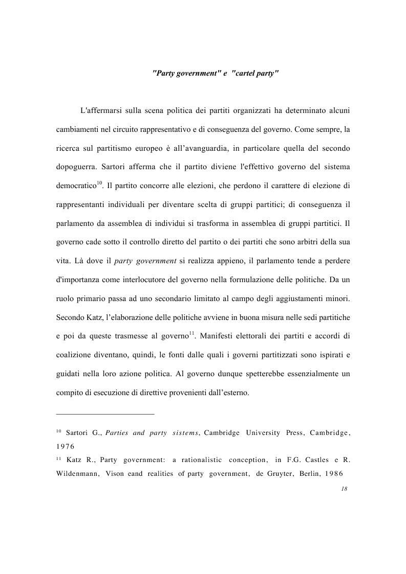 Anteprima della tesi: Partiti e imprese pubbliche - Il caso del Monte dei Paschi di Siena, Pagina 14