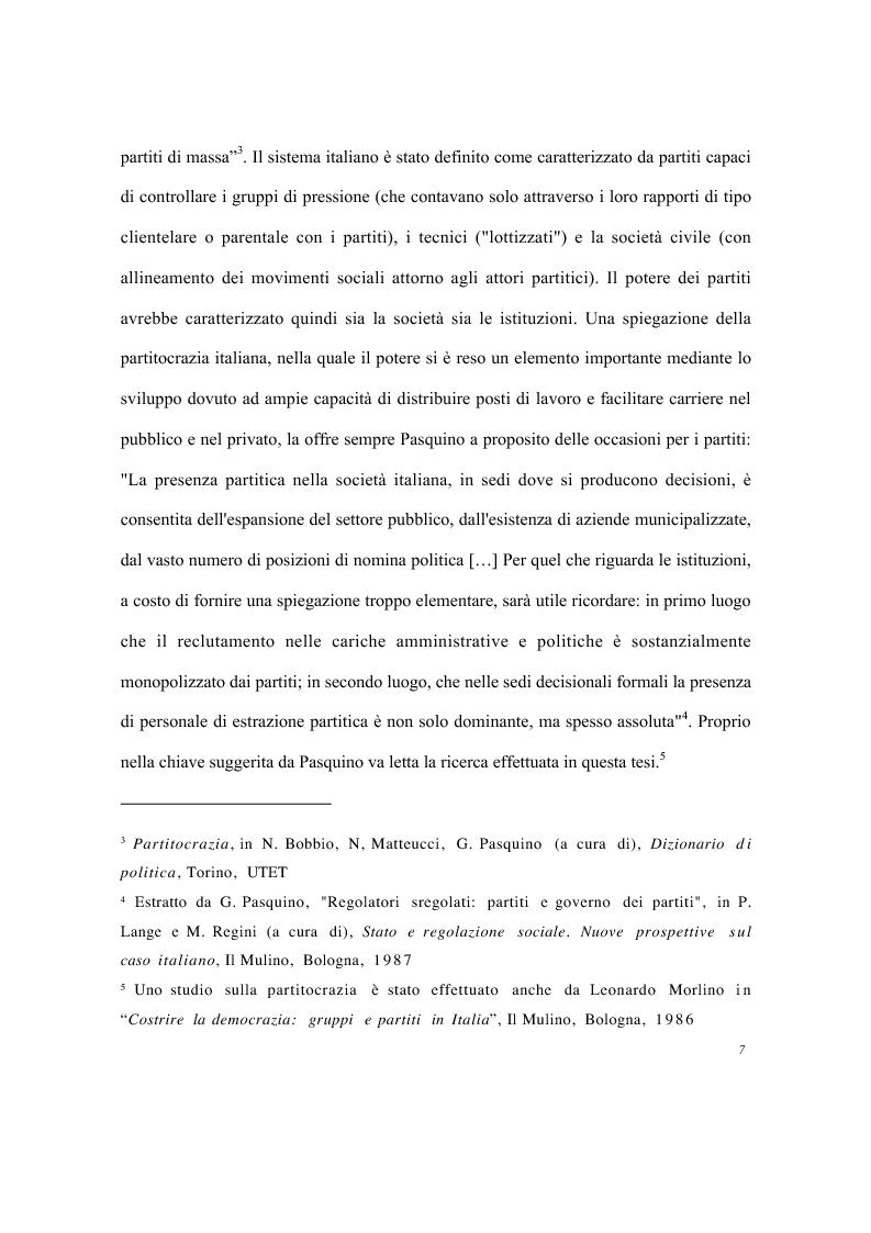 Anteprima della tesi: Partiti e imprese pubbliche - Il caso del Monte dei Paschi di Siena, Pagina 3