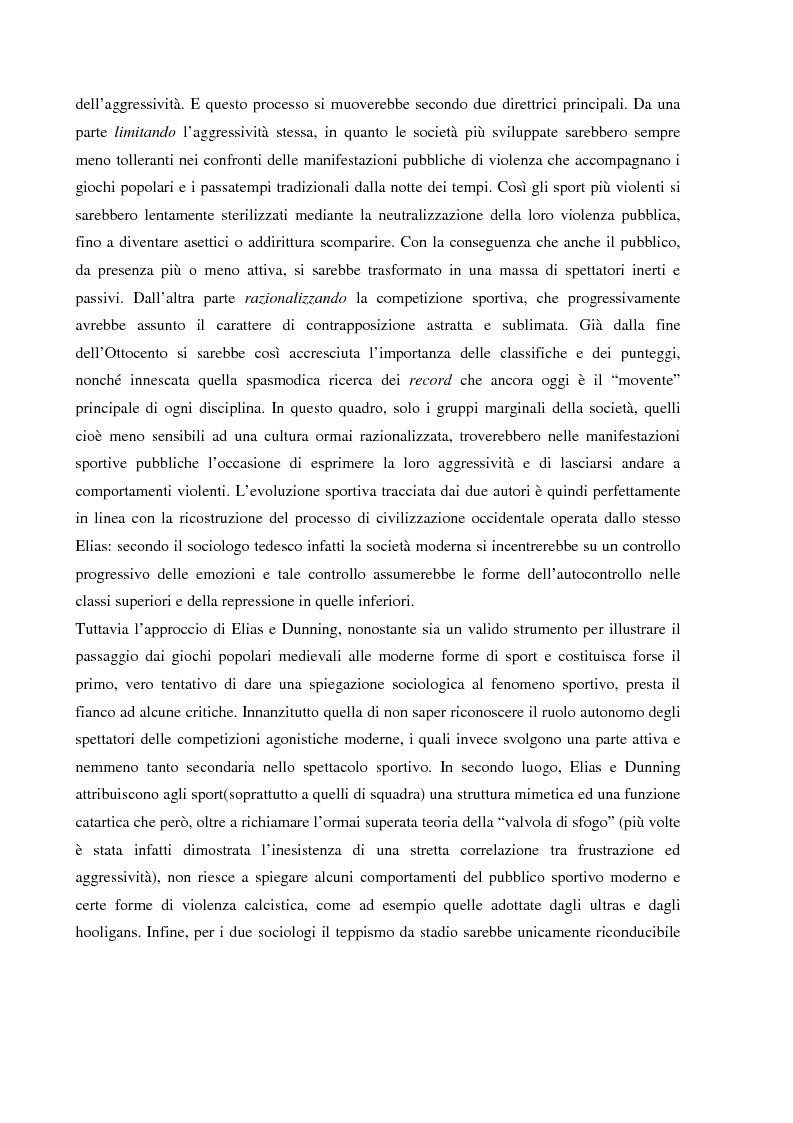 Anteprima della tesi: Tifo organizzato e identità collettiva. Il fenomeno ultras nel calcio, Pagina 12
