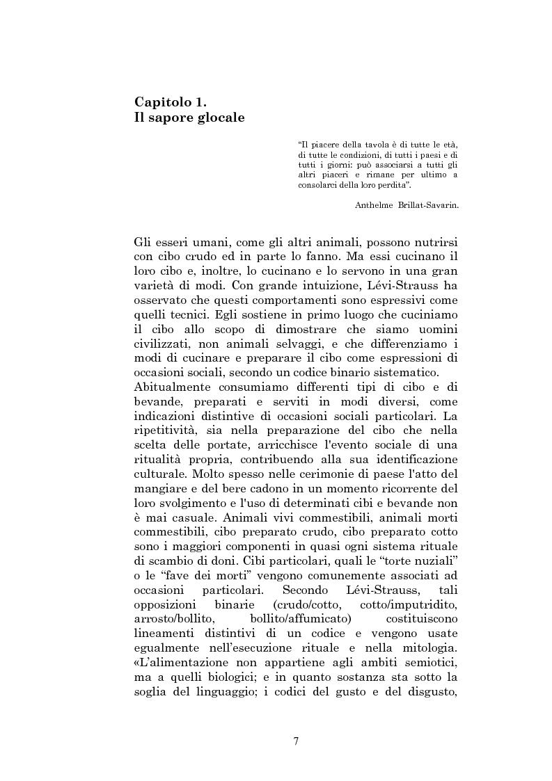 Anteprima della tesi: Il sapore glocale della cucina in tv, Pagina 4