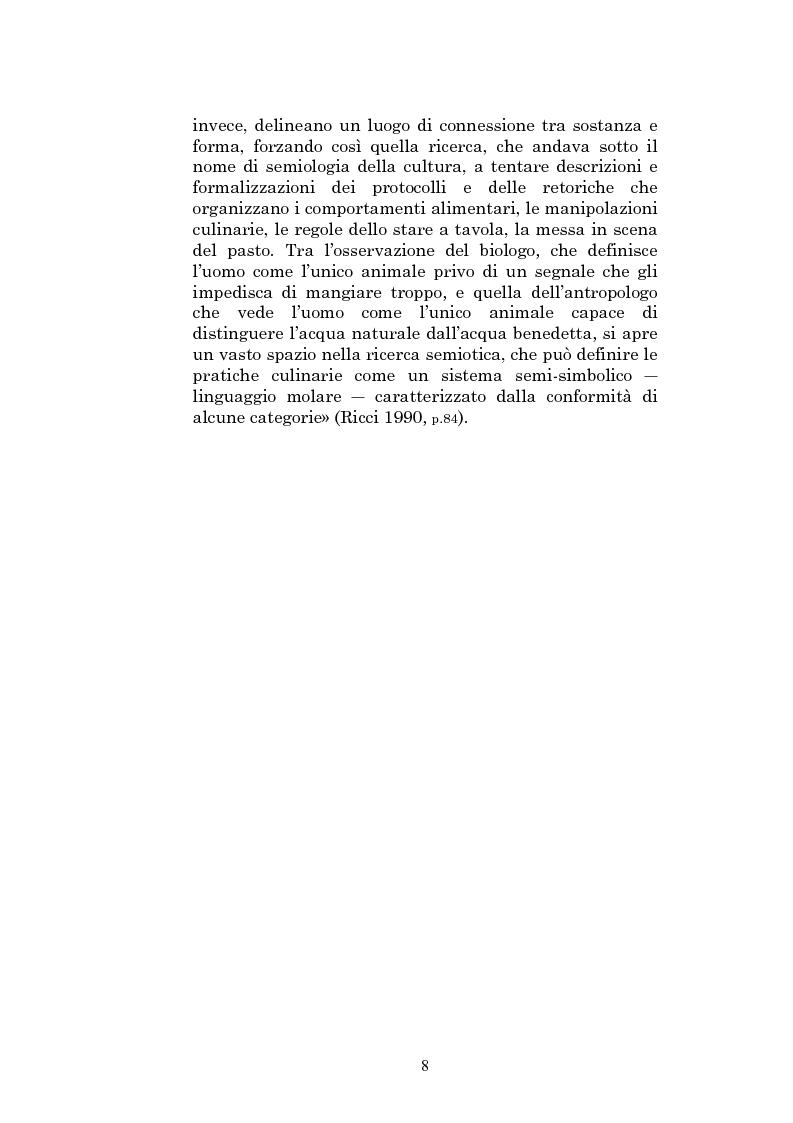 Anteprima della tesi: Il sapore glocale della cucina in tv, Pagina 5